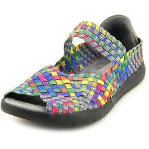 BareTraps Women Ivette Woven Rainbow Flats Sandals